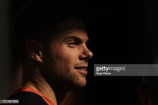 Zac Williams of the Giants trains during a Greater Western Giants AFL training session at the WestConnex Centre on August 17 2018 in Sydney Australia