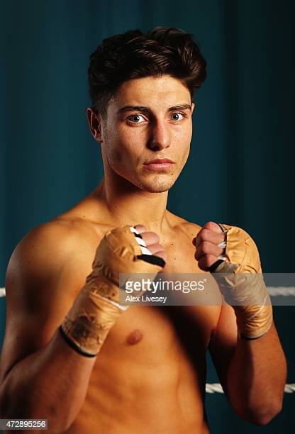 Josh Kelly of the Team GB Boxing Team poses for a portrait after the official team announcement for the Baku Games at the English Institute of Sport...