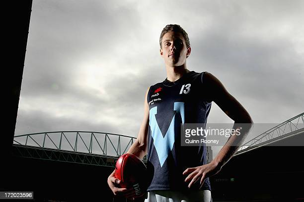 Josh Kelly of Victoria Metro poses during a media session ahead of the AFL Under 18 Championships Final Round at Etihad Stadium on July 1 2013 in...