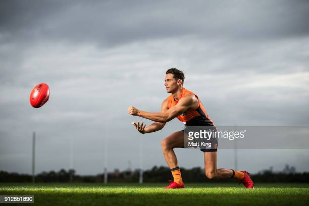 Josh Kelly poses during the Greater Western Sydney Giants AFL media day on February 1 2018 in Sydney Australia