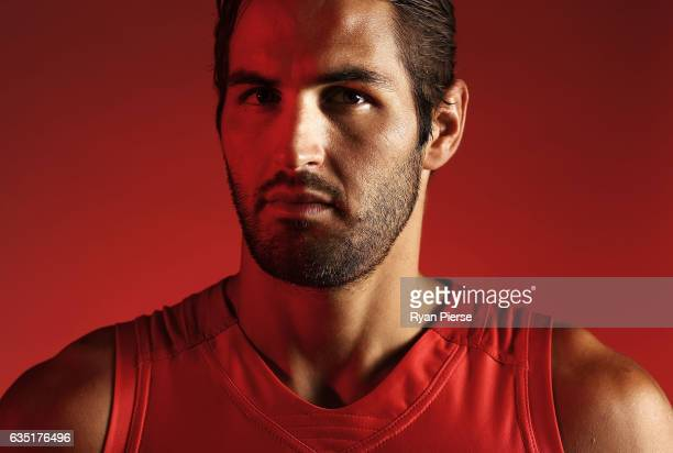Josh Kennedy catptain of the Swans poses during a portrait session at the SCG on February 14 2017 in Sydney Australia