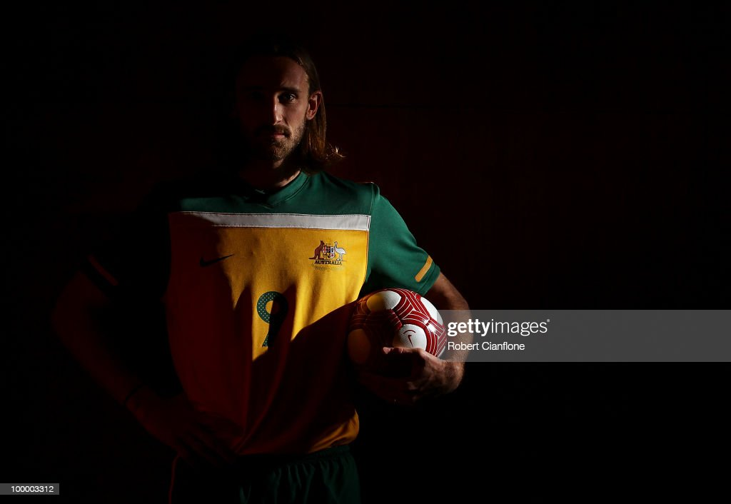 Josh Kennedy of Australia poses for a portrait during an Australian Socceroos portrait session at Park Hyatt Hotel on May 20, 2010 in Melbourne, Australia.