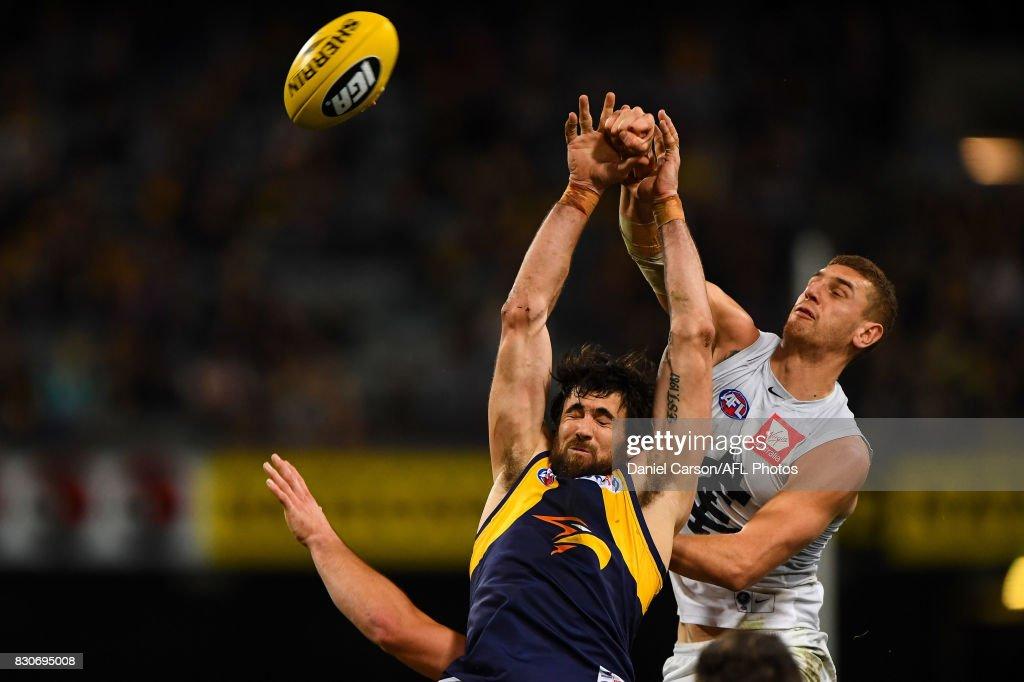 AFL Rd 21 - West Coast v Carlton : News Photo