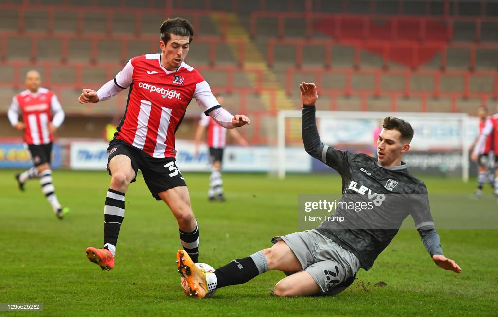 Exeter City v Sheffield Wednesday - FA Cup Third Round : News Photo
