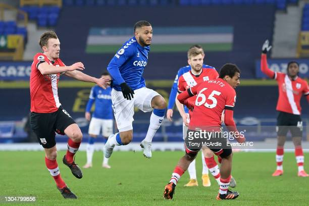 Josh King of Everton during the Premier League match between Everton and Southampton at Goodison Park on March 2021 in Liverpool, England.