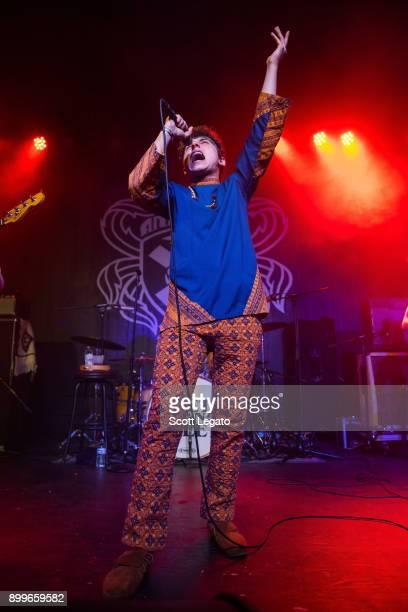 Josh Kiszka of Greta Van Fleet performs at St Andrews Hall on December 29 2017 in Detroit Michigan