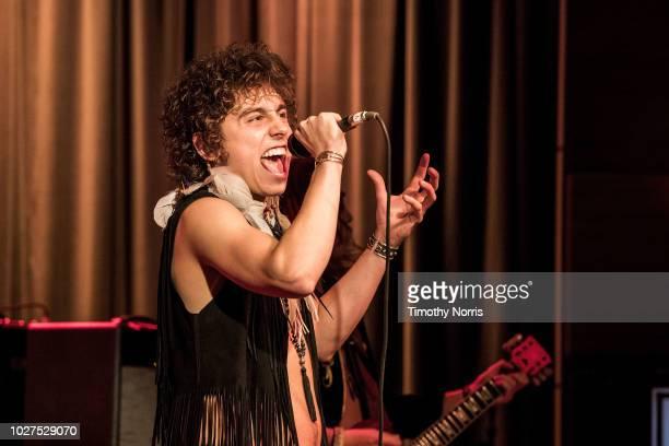 Josh Kiszka of Greta Van Fleet performs during Spotlight: Greta Van Fleet at The GRAMMY Museum on September 5, 2018 in Los Angeles, California.