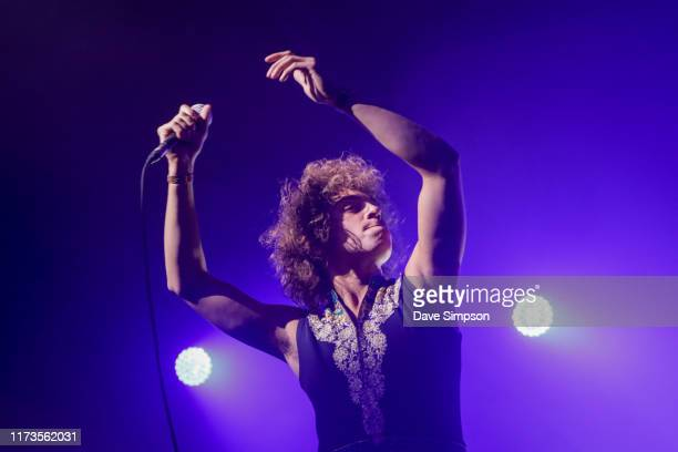 Josh Kiszka of Greta Van Fleet performs on stage at Logan Campbell Centre on September 10, 2019 in Auckland, New Zealand.