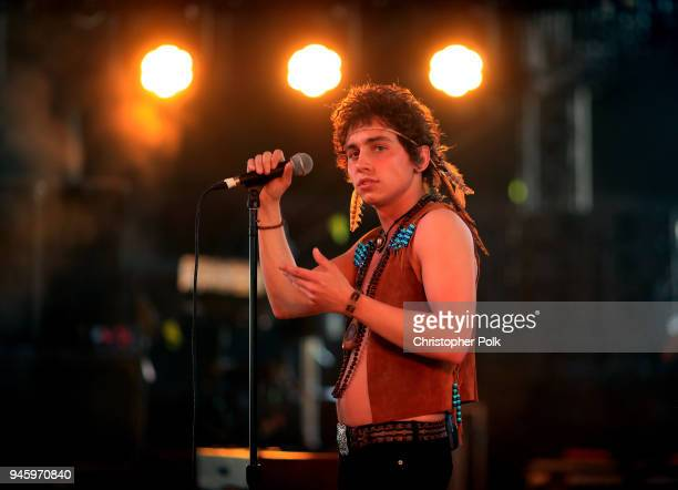 Josh Kiszka of Greta Van Fleet performs onstage during the 2018 Coachella Valley Music And Arts Festival at the Empire Polo Field on April 13, 2018...
