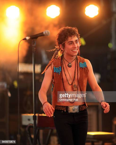 Josh Kiszka of Greta Van Fleet performs onstage during the 2018 Coachella Valley Music And Arts Festival at the Empire Polo Field on April 13 2018 in...