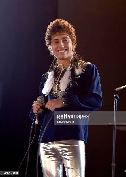 Josh Kiszka of Greta Van Fleet performs onstage during the 2018 Coachella Valley Music And Arts Festival at the Empire Polo Field on April 20 2018 in...