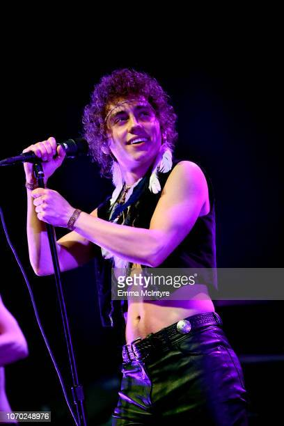 Josh Kiszka of the band Greta Van Fleet performs on stage during the KROQ Absolut Almost Acoustic Christmas at The Forum on December 8, 2018 in...