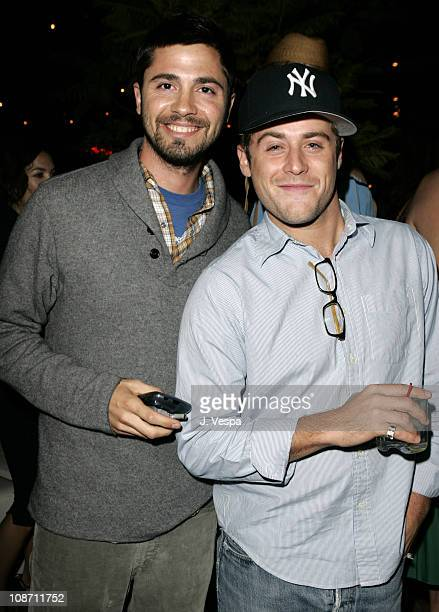 Josh Klein and Jon Abrahams during Teen Vogue Young Hollywood Issue Party Inside at The Roosevelt Hotel in Hollywood California United States