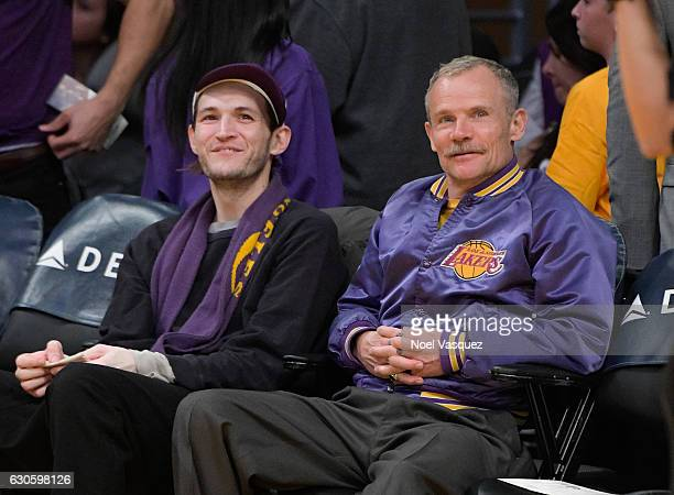 Josh Klinghoffer and Flea attend a basketball game between the Utah Jazz and the Los Angeles Lakers at Staples Center on December 27 2016 in Los...