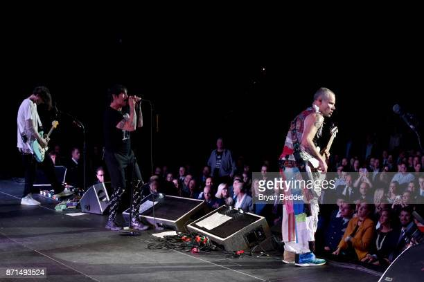 Josh Klinghoffer Anthony Kiedis and Flea of Red Hot Chili Peppers perform onstage during the 11th Annual Stand Up for Heroes Event presented by The...
