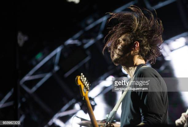 Josh Klinghoffer guitar player of Red Hot Chili Peppers performs during the first day of Lollapalooza Buenos Aires 2018 at Hipodromo de San Isidro on...