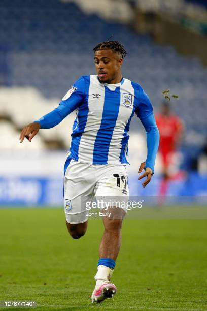 Josh Koroma of Huddersfield Town during the Sky Bet Championship match between Huddersfield Town and Nottingham Forest at John Smith's Stadium on...