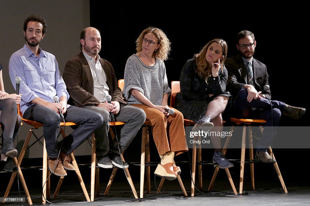 Josh Kriegman, Andrew Rossi, Rachel Grady, Heidi Ewing and Clay Tweel speak onstage during the Docs to Watch Panel during the 19th Annual Savannah Film Festival presented by SCAD on October 23, 2016 in Savannah, Georgia.