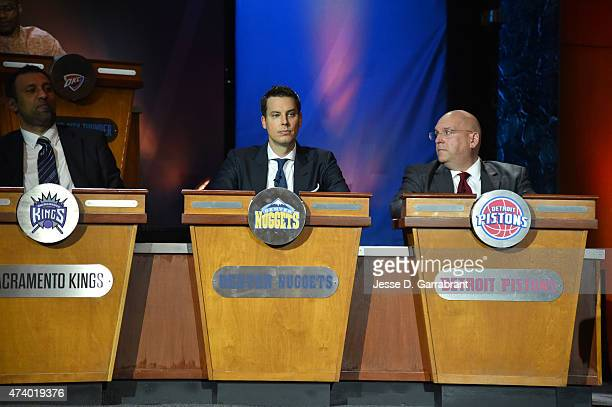 Josh Kroenke of the Denver Nuggets during the 2015 NBA Draft Lottery on May 19 2015 at the New York Hilton Midtown in New York City NOTE TO USER User...