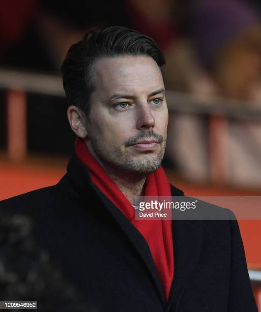 Josh Kroenke the Arsenal Director before the FA Women's Continental League Cup Final Chelsea FC Women and Arsenal FC Women at City Ground on February...