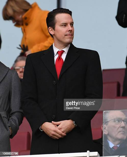 Josh Kroenke the Arsenal Director before the Premier League match between Arsenal FC and Huddersfield Town at Emirates Stadium on December 8 2018 in...