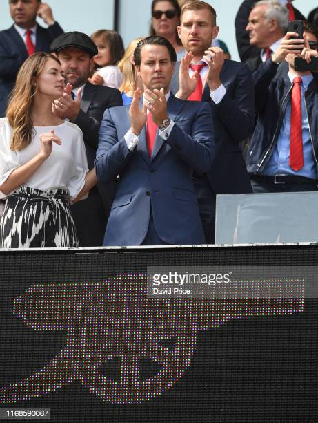 Josh Kroenke the Arsenal Director before the Premier League match between Arsenal FC and Burnley FC at Emirates Stadium on August 17 2019 in London...