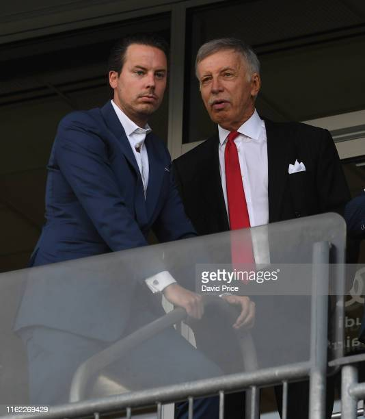 Josh Kroenke the Arsenal Director with Stan Kroenke the Arsenal Owner before the match between Colorado Rapids v Arsenal at Dick's Sporting Goods...