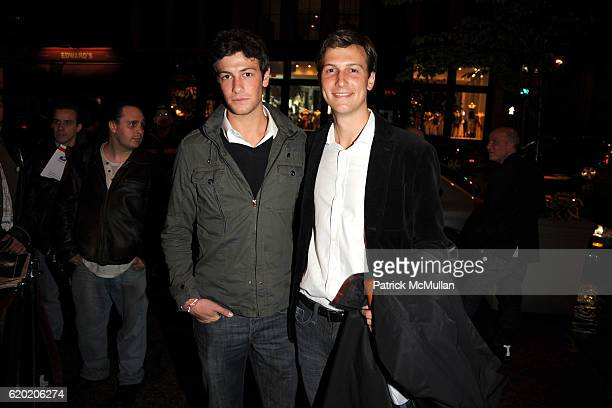 Josh Kushner and Jared Kushner attend THE CINEMA SOCIETY MICHAEL KORS host the after party for IRON MAN at The Odeon on April 28 2008 in New York City