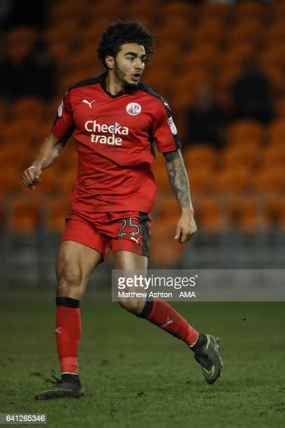 Josh Lelan of Crawley Town during the Sky Bet League Two match between Blackpool and Crawley Town at Bloomfield Road on February 7 2017 in Blackpool...