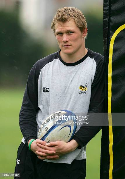 Josh Lewsey of the Wasps rugby team posing for a photograph before a training session at Acton in London on the 8th April 2005