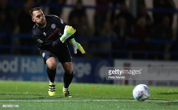 Josh Lillis of Rochdale in action during the Sky Bet League One match between Rochdale and Northampton Town at Spotland Stadium on October 17 2017 in...