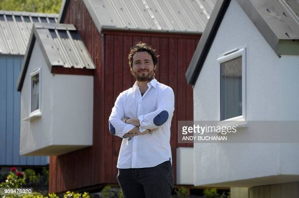 Josh Littlejohn cofounder of Social Bite poses for a photograph during the launch of the Social Bite Village project in Granton Edinburgh in Scotland...