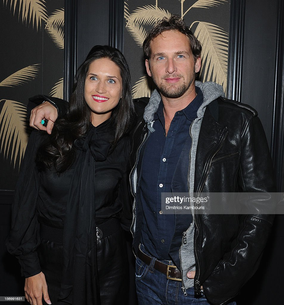 Josh Lucas and guest attend The Cinema Society With Men's Health And DeLeon Tequila Host A Screening Of The Weinstein Company's 'Killing Them Softly' After Party on November 26, 2012 in New York City.