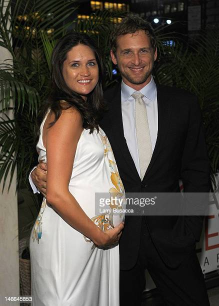 Josh Lucas and Jessica Ciencin Henriquez attend the after party for the Cinema Society with The Hollywood Reporter & Piaget and Disaronno special...