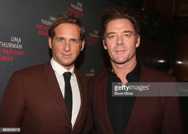 Josh Lucas and Marton Csokas pose at The Opening Night Party for 'The Parisian Woman' on Broadway at Sardis on November 30 2017 in New York City