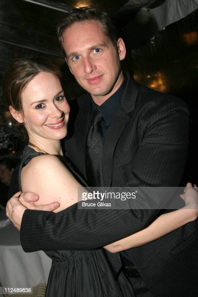 Josh Lucas and Sarah Paulson during 'The Glass Menagerie' Opening Night on Broadway at Ethel Barrymore Theatre Bryant Park Grill in New York City New...