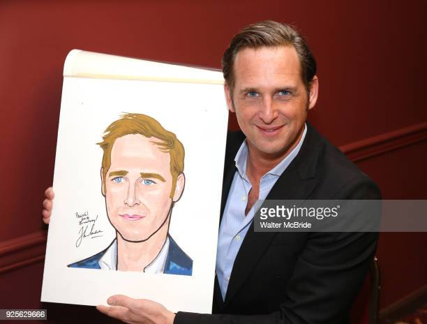 "Josh Lucas from the Broadway cast of ""The Parisian Woman"" honored with a Sardi's Wall of Fame Portrait on February 28, 2018 at Sardi's in New York..."