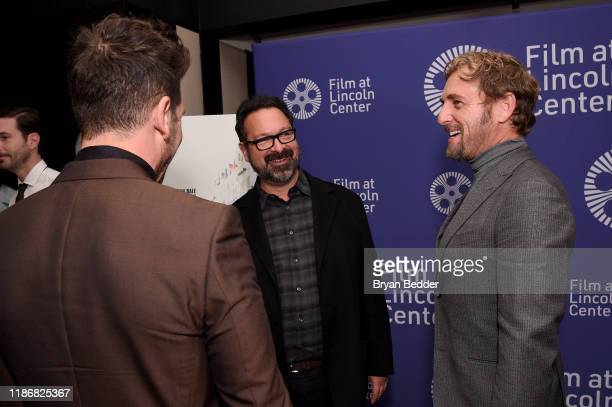 "Josh Lucas, James Mangold and Jon Bernthal attend a screening of ""Ford v Ferrari"" at The Film Society of Lincoln Center: Walter Reade Theatre on..."