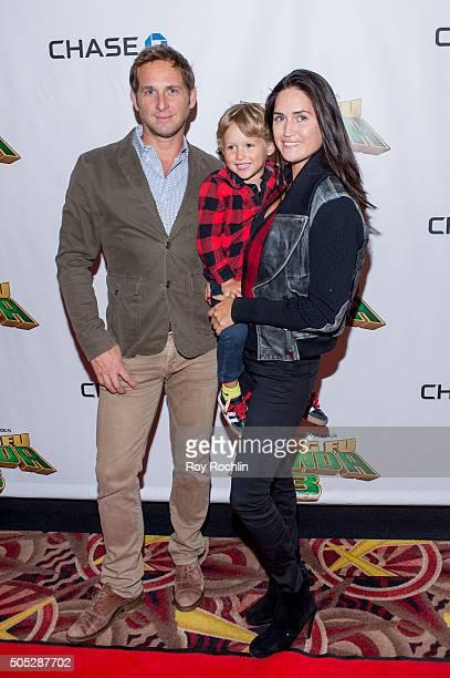Josh Lucas Noah Rev Maurer and Jessica Ciencin Henriquez attend the Kung Fu Panda 3 New York screening at AMC Loews Kips Bay 15 theater on January 16...