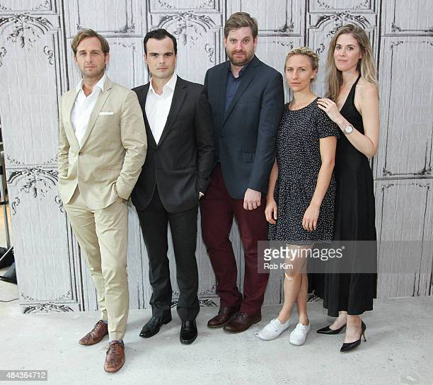 "Josh Lucas, Stephen Plunkett, John Magary, Mickey Sumner and Lucy Owen attend AOL's BUILD Speaker Series Present: ""The Mend"" at AOL Studios In New..."