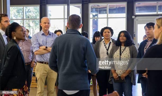 Josh MacAlister Misan Rewane GLG CEO Alexander SaintAmand Kiah Williams Anushka Ratnayake and Jukay Hsu attend TreeHouse Hosts GLG Social Impact...