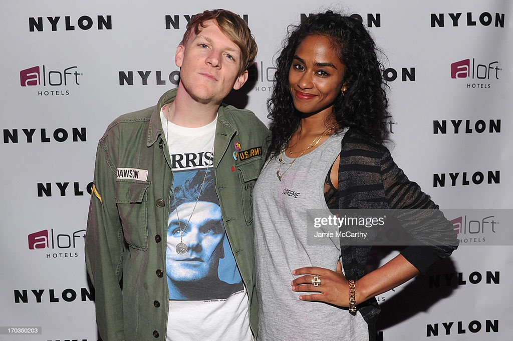 Josh Madden and Vashtie Kola attend as NYLON And Aloft Hotels Celebrate The June/July Music Issue With Avril Lavigne at the Highline Ballroom on June 11, 2013 in New York City.