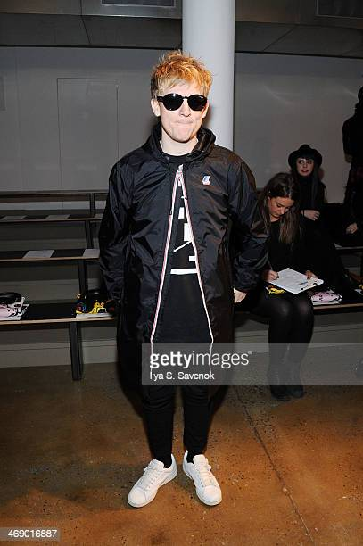 Josh Madden attends the Jeremy Scott fashion show during MADE Fashion Week Fall 2014 at Milk Studios on February 12 2014 in New York City