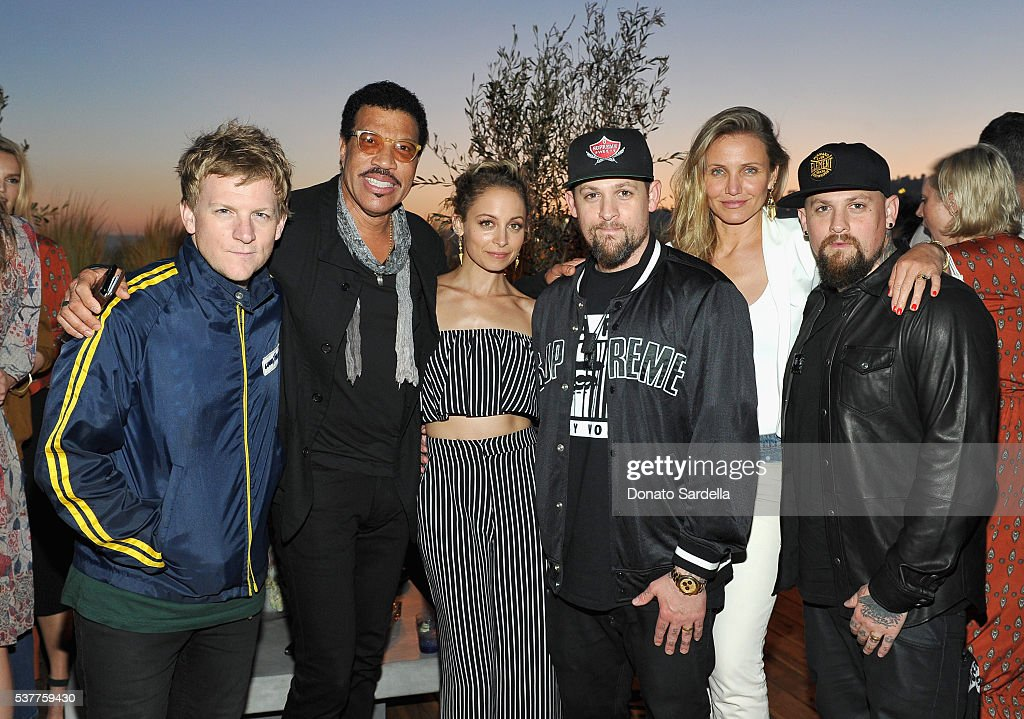 Josh Madden, singer-songwriter Lionel Richie, fashion designer Nicole Richie, singer Joel Madden, actress Cameron Diaz and guitarist Benji Madden attend House of Harlow 1960 x REVOLVE on June 2, 2016 in Los Angeles, California.