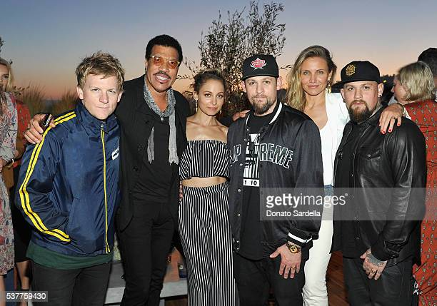 Josh Madden singersongwriter Lionel Richie fashion designer Nicole Richie singer Joel Madden actress Cameron Diaz and guitarist Benji Madden attend...