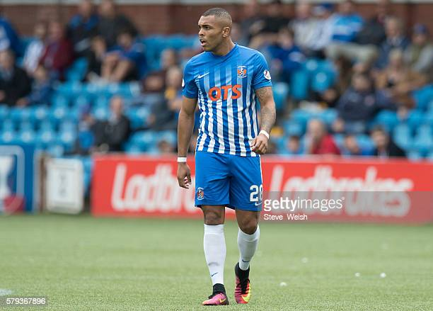 Josh Magennis of Kilmarnock during the Betfred Cup First Round between Kilmarnock Football Club and Morton at Rugby Park on July 23 2016 in...