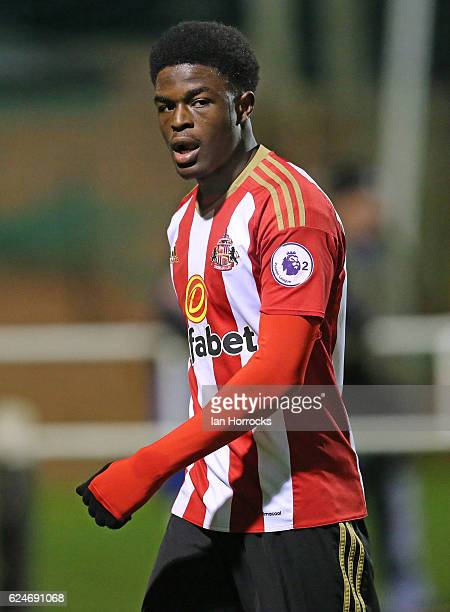 Josh Maja during the U23 Premier League International Cup match between Sunderland and Benfica at The Hetton Centre on November 18 2016 in Hetton...