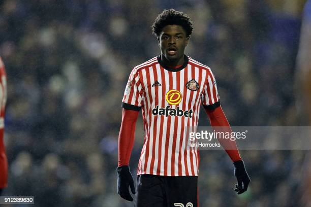 Josh Maja of Sunderland during the Sky Bet Championship match between Birmingham City and Sunderland at St Andrews on January 30 2018 in Birmingham...