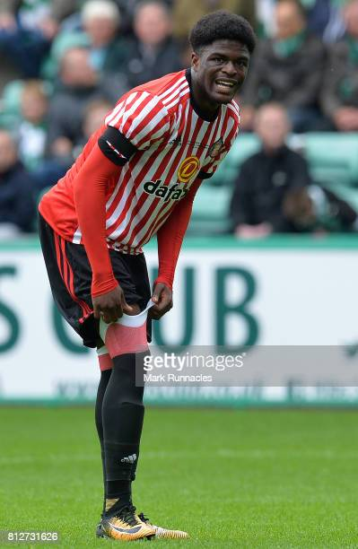 Josh Maja of Sunderland in action during the pre season friendly between Hibernian and Sunderland at Easter Road on July 9 2017 in Edinburgh Scotland