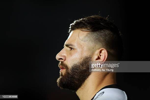 Josh Mansour of the Panthers looks on during the round 24 NRL match between the New Zealand Warriors and the Penrith Panthers at Mt Smart Stadium on...